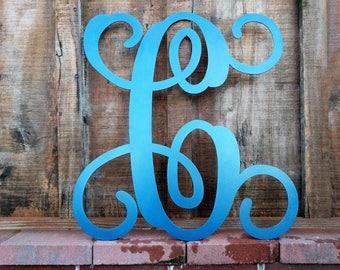 Single Letter Monogram, Single Letter, Wall Sign, Metal Letter, Nursery Sign, Wedding Guest Book, Metal, Door Decor, Home Decor, Door Sign