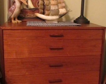 SAMPLE -- Not For Sale -- Refinished MCM Mid Century Modern Dresser 6-Drawer Chest