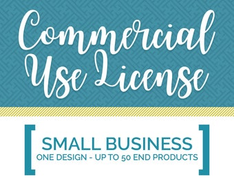 SVG Commercial Use License | Small Business, Up to 50 end products