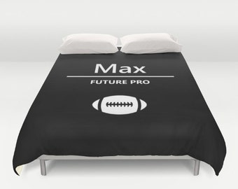 Personalized Bedding For Teens, Boys Bedding Twin, Football Bedding Queen, Custom Football Bedding King, Personalized Kids Gifts