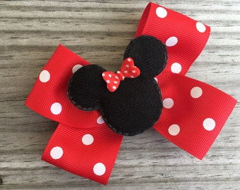 Minnie Mouse Bow / Minnie Mouse Hair Bow / Disney World Bow / Disney Bow