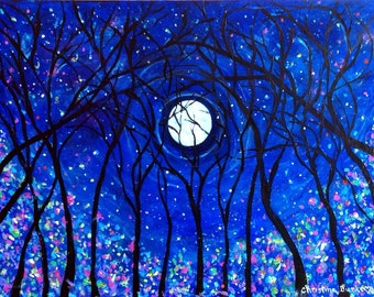 Into the Woods Original Painting