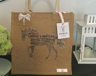 EmsiLou HORSE Typography jute (personalised)