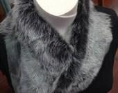 Toscani lambskin collar w...