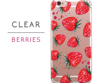 Case For Samsung galaxy galaxy s7 galaxy s7 edge case strawberry clear fruit samsung galaxy s6,s5 active,s4,s4 mini,s3 case galaxy s2 ,a15