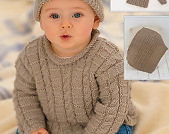 Sweater Knitting Pattern Leaflet Sirdar 1648 Snuggly DK, 3months-6 years