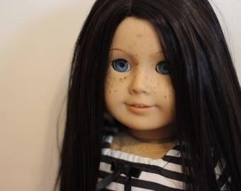 Custom American Girl Doll Classic Mold Freckles Kaya Wig