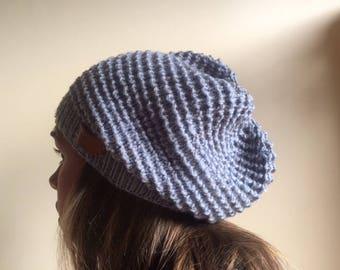 blue fleck woollen slouchy
