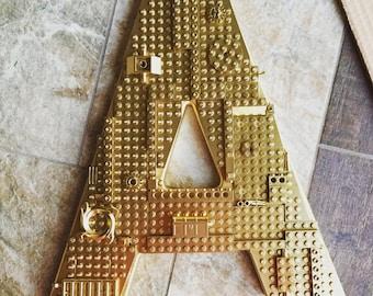 Gold Monogrammed Letter - LEGO