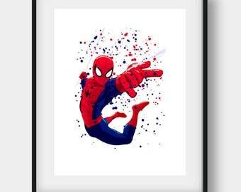 Spiderman Wall Art spiderman art spiderman printable spiderman print spiderman