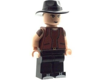 Custom Design Minifigure - Cowboy (Warriors) Printed On LEGO Parts