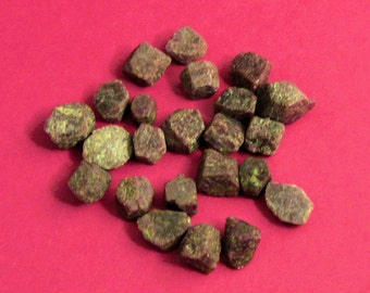 3 Small Natural Ruby Crystals for Personal Power, Strength, confidence, Passion, Prosperity