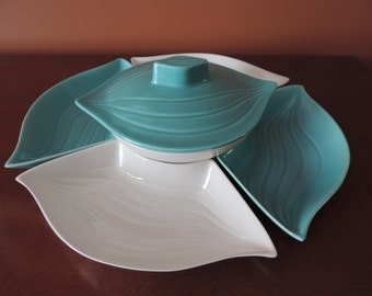Pottery-Made in the USA - #L34 - platter - 6 pieces - bowls
