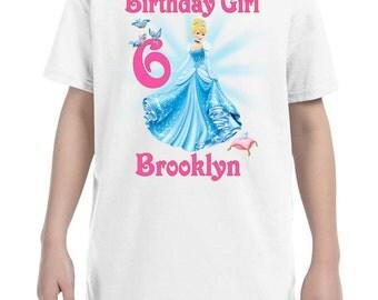 Cinderella Birthday Shirt Peronalized