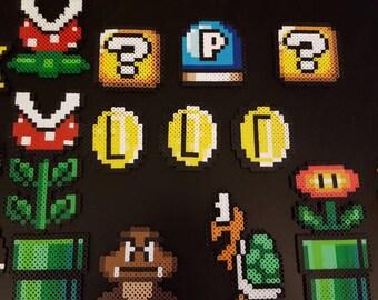 Retro Super Mario magnets