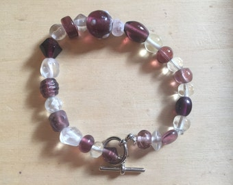 Amethyst beaded braclet