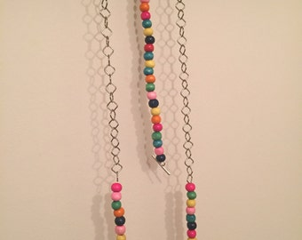 Colorful beads bracelet and necklace