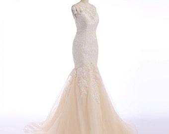 Wedding Dress/Lace Mermaid Backless Wedding Dress