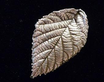 Fine Silver Leaf Brooch