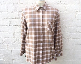 Checked shirt, flannel top, oversized 90's fashion