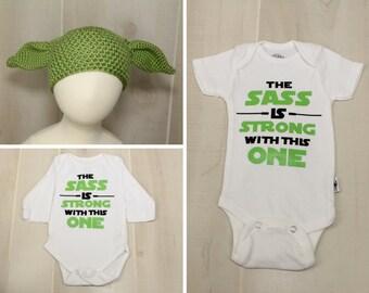 Baby Yoda Outfit Baby Hat Onesie Set Baby Star Wars Fan Baby Shower Gift Star Wars Set