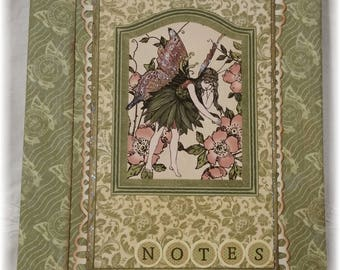 Graphic 45 Once Upon a Springtime Notepad with Cover ~ Green