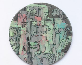 Original Hand Painted Coffee Coaster