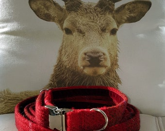 Harris Tweed Dog Collar
