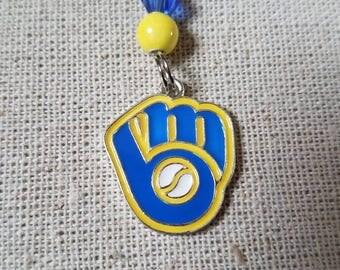Retro Milwaukee Brewers Necklace