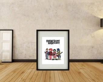Arctic Monkeys - Fluorescent Adolescent Framed Print