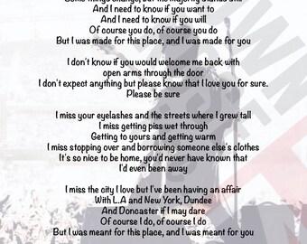 Courteeners - The Opener Lyrics Print