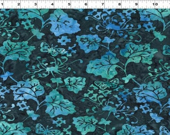 CLEARANCE - In the Beginning - Blue Floral Hashtag - Floragraphix III by Jason Yenter - Batik