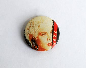 "Yazz Vintage 1980s 1"" Pin Back Button Badge"