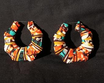 Large Ankara earrings
