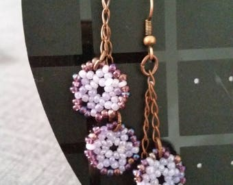 earrings with dangling pearls watermarks