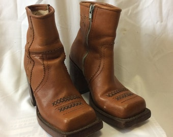 John Fluevog 80s brown boots size US 8.5