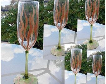 Handpaint Wine Glass , Cofee Mug, Tea Mug, Holiday Mug, Gift for Mum, Gift for Her, Kitchen Decor, Home Decor