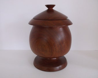 Wooden box with lid , acorn shape   Vintage