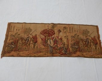 Vintage French Beautiful Arabian Culture Tapestry 032