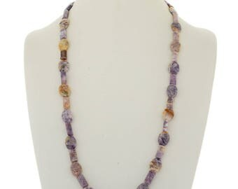 Navajo Purple Charoite Beaded Necklace Single Strand