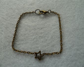 Copper bracelet with star