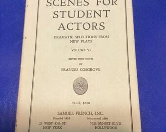 Scenes for Student Actors 1958 hardcopy