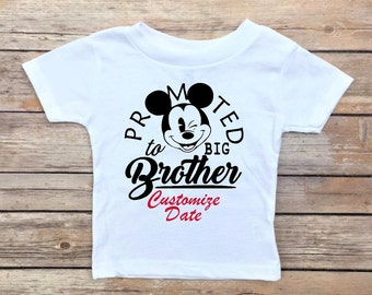 Big Brother Shirt - Big Brother, Promoted to Big Brother, Promoted to Big Cousin, Baby Announcement Shirt, Big Brother Announcement Shirt