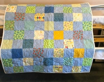 Beautiful baby boy quilt