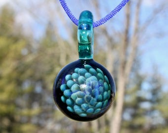 Fumed Implosion Glass Pendant, no. 14