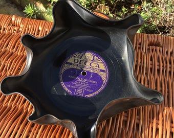 Vintage Vinyl Record Bowl