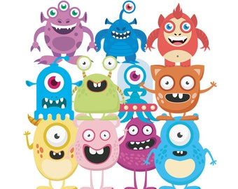 Monster Cute Funny Clipart