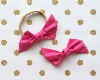 """Hot Pink """"Bailee"""" Hair Bow"""