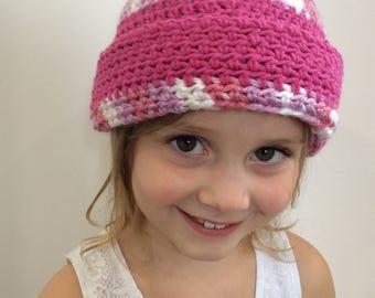 Crochet Beanie - Hot Pink