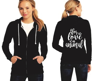 Women's Black Zip Up Hoodie